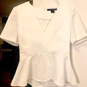 French Connection peplum top size 4